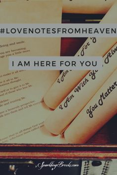 Another love note from heaven has arrived! My dear one,    It's with delight that I write you another love note from heaven. It's becoming one of my favorite things to do.    Thank you for taking to heart last week what I asked of you. Choosing to give me your concerns and cares.   Rest assured; I am working all things out for good because you've trusted Me with it and I care for you. Trust. I know that's hard for you at times...read more at SparklingBrooks.com