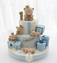 Birthday Cake Fondant Boy Teddy Bears Trendy Ideas The Effective Pictures We Offer You About Birthday Cake aesthetic A quality picture can tell you many things. Teddy Bear Birthday Cake, Toddler Birthday Cakes, Boys First Birthday Cake, Teddy Bear Cakes, Teddy Bears, Cake Birthday, Teddy Bear Baby Shower, Baby Shower Cakes For Boys, Baby Shower Themes