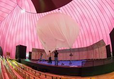 Lucerne Festival Ark Nova: inflatable mobile concert hall by Arata Isozaki and Anish Kapoor