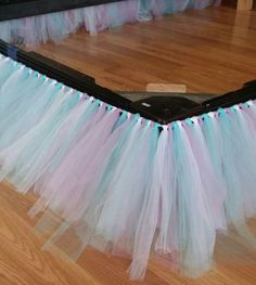 Tulle around the bed.
