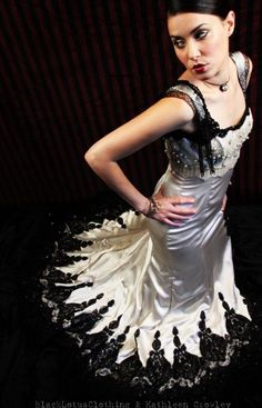 images of Gothic fashion | Darker Fashions: Romantic Goth: 'Ariellah's Wedding Dress' by Kathleen ...