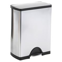 Found it at Wayfair - Recycler Trash Can in Stainless Steel