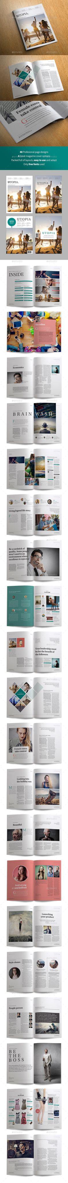 Utopia Magazine  #interview #layouts #magazine #$18