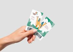 Brand identity on Behance Zoo Tickets, Board Game Cafe, Banner Design Inspiration, Brand Identity, Branding, Jungle Illustration, Ticket Design, Graph Design, Information Design