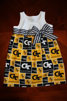 Georgia Tech Dress - could probably make simply with a sized undershirt and fabric.