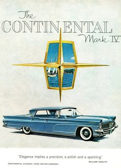 Lincoln Continental Mark IV Landau 1959 - Mad Men Art: The 1891-1970 Vintage…