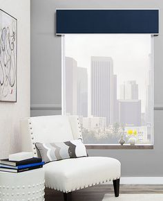 Design your own custom fabric cornice with The Shade Store today. Help prevent light seepage by layering a cornice over shades, blinds and drapes today. Kitchen Window Valances, Window Cornices, Window Coverings, Window Blinds, Room Window, Room Paint Colors, Paint Colors For Living Room, Trendy Bedroom, Modern Bedroom