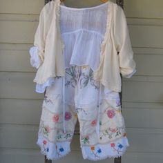 Small to Medium Prairie Vintage Linen Bloomer Pants by MegbyDesign, $185.00
