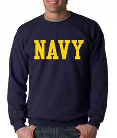 NAVY BLOCK CREW NECK GOLD Military Sweatshirt Blend Seal US U.S.NAVY USNAVY #RockCityThreads #SweatshirtCrew