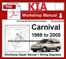 Kia Carnival Workshop Repair Manual & Wiring Diagrams Download PDF  1999 to 2005 DOWNLOAD BUY NOW! Just £9.95 / $13.00 Electrical Diagram, Windows System, Engine Repair, Cover Model, Technical Drawing, Home Repair, Repair Manuals, Carnival, Workshop