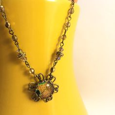 Fire Marble Flower Beaded Necklace-Flower by AudriasPrettyPieces