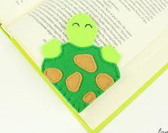 Corner bookmark tea cup felt bookmark original by Lanatema on Etsy
