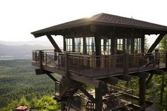 9 Amazing Lookout Towers Converted Into Homes reminds me of where we used to hang out on Rich Mountain, Mena, Ar