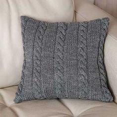 Billedresultat for strikkede sofapuder
