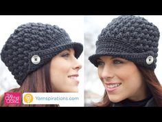 Learn to Crochet this Vintage Women's Peaked Hat. In this tutorial you will learn new stitching techniques and cool ideas such as making a visor. Get the fre...