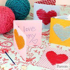 Hilado Tarjetas Corazón