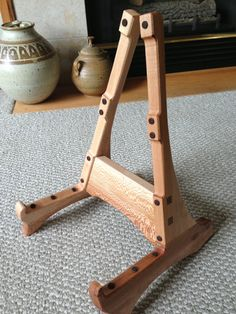 Handmade Sycamore Guitar Stand by YunasUncle on Etsy, $90.00