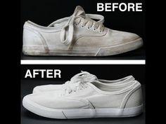 Met 3 ingrediënten krijg je vieze schoenen weer stralend wit! Maak je schoenen weer als nieuw! - Zelfmaak ideetjes