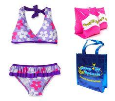 Toddler Girls Minnie Mouse /& Daisy Duck Mint Green 2 Piece Bikini Swimsuit