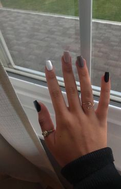 Acrylic Nails Coffin Short, Simple Acrylic Nails, Summer Acrylic Nails, Acrylic Nail Designs, Chic Nail Designs, Colored Acrylic Nails, Elegant Nail Designs, Square Acrylic Nails, Coffin Nails