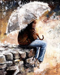 Rain Print featuring the painting Rain Day by Emerico Imre Toth