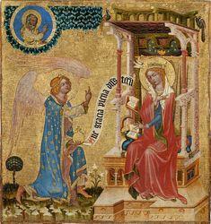 Vyšebrodský cyklus - Zvěstování P. Marii, Národní galerie v Praze - Vyšebrodský cyklus – Wikipedie
