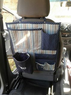 Bag Patterns To Sew, Sewing Patterns, Car Seat Organizer, Bed Organiser, Car Organizers, Sewing Crafts, Sewing Projects, Car Accessories Diy, Vide Poche