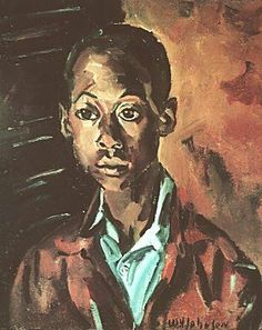 William H. Johnson - Jim Johnson, Artist's Brother 1930. Johnson was not a self-taught or outsider artist. At age 17, Johnson moved to New York City, where he supported himself by working as a cook, hotel porter, and stevedore. In September 1921, he enrolled at the School of the National Academy of Design (NAD). Between 1923-1926, during the academic year he studied with Charles W. Hawthorne at the NAD and during the summers at The Cape Cod School of Art in Provincetown, Massachusetts.