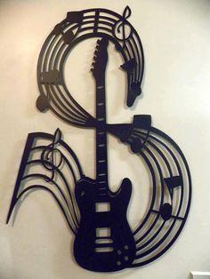 Cool tattoo idea!! love the guitar!