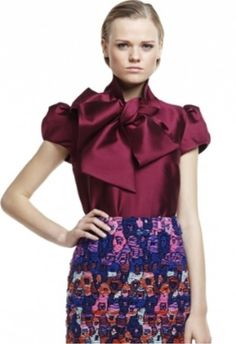 Plakinger Silk Jacquard blouse