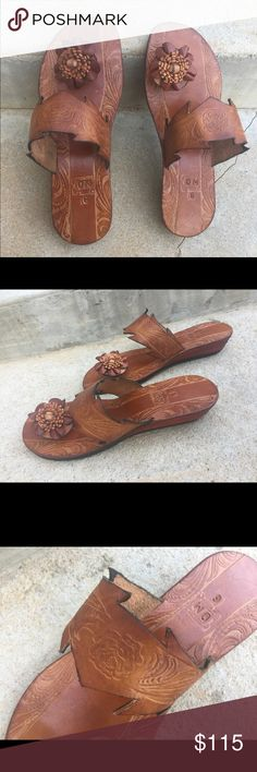Handmade Guyanese Leather   Heeled Caramel Madras Heeled slipper, caramel color.   Imported authentic Guyanese leather.   ✨NOTE:✨ as each shoe is 100% handmade Guyanese leather, I ask that each customer measure their feet, from bottom of heel to top of their longest toe, to make sure that their shoe fits perfectly.✨ LeatherTopics Shoes Slippers