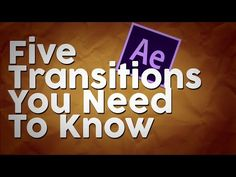 5 After Effects Transitions Everyone Should Know - YouTube