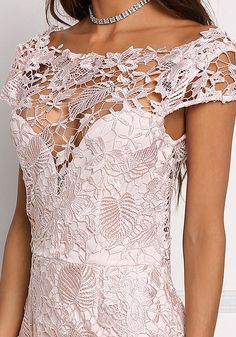 Blush Floral Embroidered Scallop Dress - Occasions - Dresses
