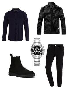 """winter type"" by juliadeuveren on Polyvore featuring A.P.C., Yves Saint Laurent, Rolex, men's fashion en menswear"