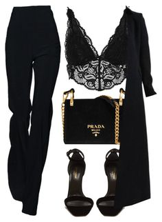 featuring River Island, Prada, Yves Saint Laurent and Alaïa Mode Outfits, Girl Outfits, Fashion Outfits, Womens Fashion, Looks Chic, Looks Style, My Style, Classy Outfits, Stylish Outfits