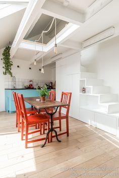 Un studio sous combles, Just'n'Nousse Architecture - Côté Maison