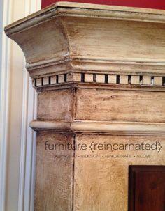 Textured Tuscan Corner Cabinet | furniture {reincarnated}