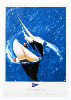 Louis Vuitton Cup - America's Cup - San Diego (medium format open edition) by Razzia | Shop original vintage #posters online: www.internationalposter.com.