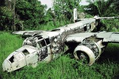 WWII Bomber found in the jungle.