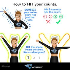 Our top tips and tutorial for cheerleaders to get cheer motions super SHARP!