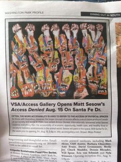 "Thank you to everybody that attended the opening reception of my show ""Access Denied"" at VSA Colorado Access Gallery in Denver Colorado last Friday! The show is up until September 13, so please go check it out if you are in Denver (909 Santa Fe Drive). Here are some photos from the opening"