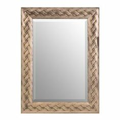 Antique Silver Braided Framed Mirror, 34x46 | Kirkland's
