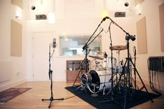 What the drum room part of the studio may look like on the other side of the glass. The mic room will also be in here