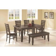 AMB Furniture Design Dining Room Table Sets Cherry Finish 7 Pc Cromwell Antique Wood Elegant Formal
