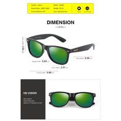 616c430573 Iambcoolin.com  GREY JACK Classic Polarized Retro Wayfarer Square Horn  Rimmed Design Sunglasses for Men Women Matte Black Frame