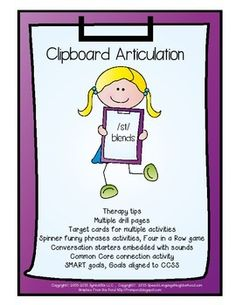 All Clipboard Articulation products are based on materials and basic worksheets I developed for my website, SpeechLanguageNeighborhood.com.