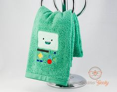 "Adventure Time ""BMO"" Inspired - Embroidered Hand Towel"