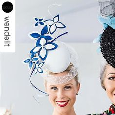 Stunning. @crystalkimber wearing @allportmillinery by @wendellt on the weekend @magicmillions