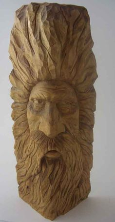 indian wood carvings | Wood Spirit 12in tall $60.00 +P&P.Order Code WC13