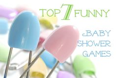 Top 7 Funny Baby Shower Games including making napkin diapers for rubber ducks.